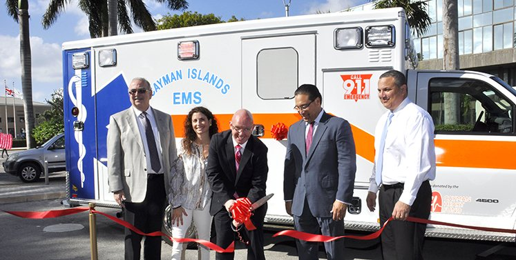 Donation of ambulance from Cayman Heart Fund